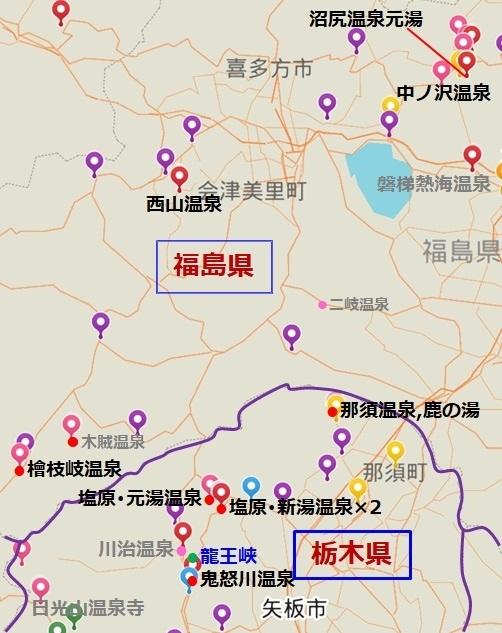 【東北21~23日目】(出発から58~60日目) のマップ