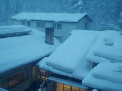 おはようございます 鳴子温泉風雅 06:00頃起床 外はまだ暗くて 昨日より雪が積もってます このお宿の マットレスが 寝心地良くて 大好きなので 昨日は2枚重ねに してみましたが 残念 寝心地は一枚の時と同じでした まあ 何事も経験ですな