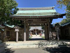 午前中の最後の訪問地として、根室市内の金刀比羅神社にやってきました。