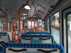 9:07 近鉄生駒駅前から田原台1丁目行きバスに乗車。貸切状態です。