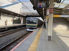 池袋から湘南新宿ラインに乗って出発です。