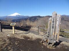 10:15 神縄トンネル登山口から2時間30分。 大野山(723m)の山頂に着きました。