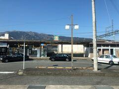 近鉄御所駅。なぜかここから壮年クラブ4人組が乗車したが、十津川村に入る前に下車していた。