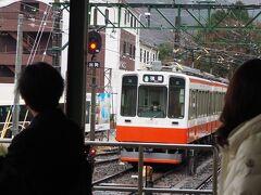 駅まで送迎車で送っていただき、 往路と同じ1000形サンモリッツ号で山を下ります。