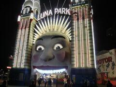 シドニーに戻ってJTAの現地ガイドと行くシドニー夜景旅行。写真はルナパーク   ↓詳しい旅行記はこちら↓ https://4travel.jp/travelogue/11238675