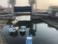 新江川樋門。