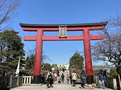 15分ほどで到着しました。 菅原道真を祀っている神社で、西の太宰府天満宮に対して、東の宰府として「東宰府天満宮」もしくはか「亀戸宰府天満宮」と称されていましたが、明治6年に東京府社となり、昭和11年に最終的に「亀戸天神社」と正称したそうです。