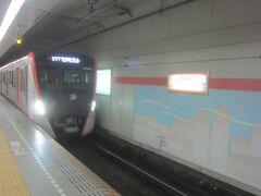 五反田から都営浅草線の西馬込行きに乗ります