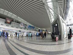 歩道橋を渡ると出発ターミナルに出た。 臨時の羽田便の案内をしている。仙台~羽田便は東北新幹線開業前に飛んでた路線だ。あのころはYS11だった。
