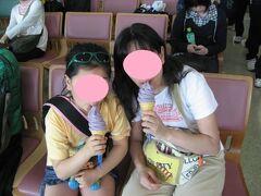 那覇空港での我が家の定番 紅イモソフトクリーム