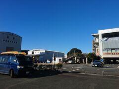 道の駅 開国下田みなと  高制限が2.3mなので 大型車駐車場へ トイレも近くてこっちのほうが楽かな!