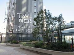 ポートシティ竹芝へは駅から空中デッキでつながっています。 あれ?タビノスホテルもつながっているよ。新しいオシャレなホテルっぽい。
