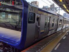 帰りの電車で早速御利益が有りました。 横須賀線の新型車両! 初めて見ました。