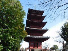 重要文化財の「五重塔」も見学。