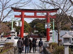 「鶴岡八幡宮 三の鳥居」まで到着。ここまで来たら鶴岡八幡宮の境内前が目の前です。