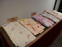 チェックインしたら お好きな浴衣を選べます  もちろん 桜柄をチョイス