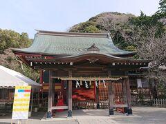 続いて、「鶴岡八幡宮 若宮」です。 ここでお祓いの受付を行います。
