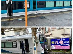三島田町では3/13から運行のE257系の試運転が行われていました。  3/13からは自由席はなくなり前席指定席となります。