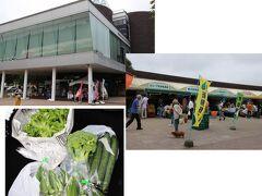 翌8月14日、帰りに長沼町の道の駅に立ち寄りました。ここの産直コーナーはとても広く、たくさんの農家がそれぞれにブースを作っているので比べながら品定めができるのがいいです。採れたての新鮮野菜をたくさん買って帰りました。