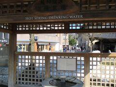駅前にあった温泉が飲めるところです。城崎温泉には何か所かあるようです。