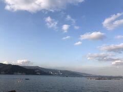 海。晴れていると綺麗