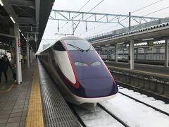 朝は比較的ゆっくり。11時過ぎに山形駅に到着の山形新幹線で