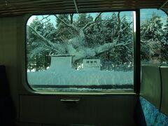 雪に埋もれた猪苗代駅。 こんな大雪は久しぶりだな。