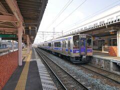 ★8:50 終点の北上駅まで乗車し、後からやって来た一ノ関行きの普通列車に乗り換え。 その後一ノ関で新幹線に乗り換えて、古川を目指します。