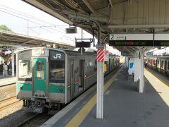 10:34 「白石駅」発の東北本線に乗って34分