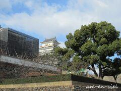 福山城は、工事中。 築城400周年を迎える2022年に向けて、整備されているそうです。