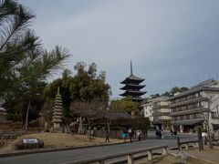 興福寺の五重塔が見えます。