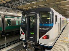 今回は新宿駅から特急踊り子号で河津を目指します。。  もともと中央線で使われていたE257系に乗りたくて新宿スタートにしました。。