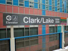 クラーク/レイク駅で乗り換え