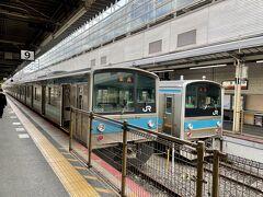 9:34 京都着  JR奈良線のホームへ移動