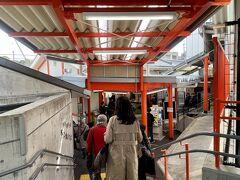 9:54 稲荷駅着  ツアーズの奈良までの乗車券だと途中下車できないとのことで現金精算(150円) 4年前に訪れた時には欧米観光客も多く下車したが・・・