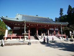 チェックアウトの後は、延暦寺に行きました。大講堂です。