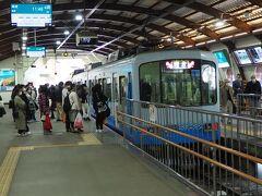 藤沢から江ノ電でレストラン最寄り駅の湘南海岸公園へ向かいます。