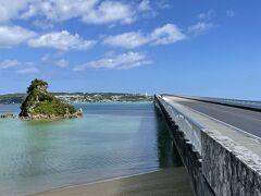 今日は古宇利島へドライブ。島ヘは約2kmの古宇利大橋を渡っていきます。