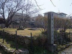 元興寺の塔の跡。