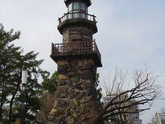 北の丸公園前の常燈明台