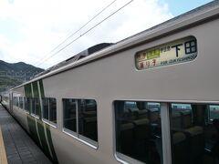 ★13:15 特急で爆走しても東京駅から3時間弱掛かってしまう南国「河津」に到着。