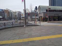 「四ツ谷駅・四ツ谷駅前交差点 右折箇所」13:00通過。旧道は20号線から左にそれます。桝形です。