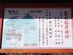 東照宮の北側(山側)に位置する金光稲荷神社。目指す仏塔まで山道を登り始める。