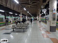 11:06 宇都宮から1時間40分。 上野駅地平15番線に到着。  うえの~ うえの~  ‥と、昔は列車が入線するとホームに間延びしたアナウンスが流れましたが、今はなくなってしまいましたね。