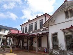 終点の軽井沢駅。旧駅舎から外に出てみました。