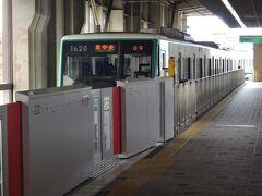 富沢到着。富沢駅は高架駅。