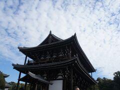 東福寺三門  こちらも特別公開されてましたが、拝観はパスしました