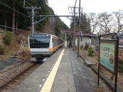 【その2】からのつづき  石神前駅周辺の散策を終えた後、ふたたび奥多摩行きの電車に乗ります。