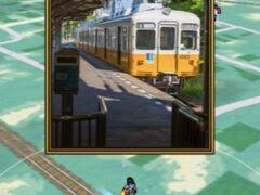 さて、次は祖谷のかずら橋のドラクエスポットへ・・・ と思っていたら、 後で行く予定だった途中の琴平のクエストは電車の中からGETできてしまいました。