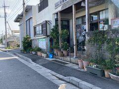 日本最西端の店、少し見てただけで3人くらいお客が入ったり出たりしてた。 首輪の付いた犬が一人でお散歩。